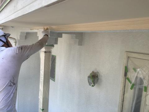 奈良市外壁屋根塗装工事壁シリコン塗装1回目