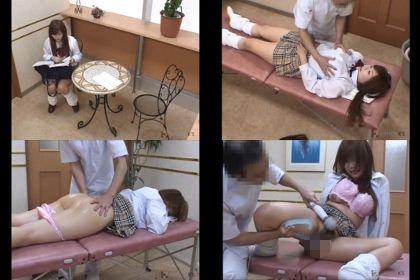 無料エステ体験で性感マッサージを受ける好奇心旺盛な女子校生がポルチオまで刺激されびしょ濡れアクメ