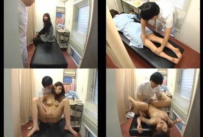 芸能事務所の近くで営業するマッサージ店でモデルのお姉さんをオイルでびしょ濡れにする猥褻施術