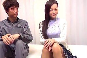 【企画】Fカップ巨乳の人妻が体育会系男子のギンギンの若チンポに興奮!