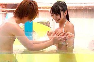 【マジックミラー号】「キャー、恥ずかしい!」初対面の男性と混浴モニター