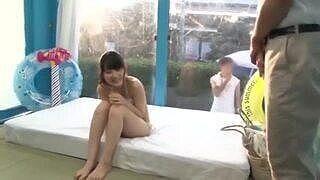 【マジックミラー号】大学生カップルの彼女が、童顔美少女だったので、MM号で寝取られマッサージをしてパコられちゃう!