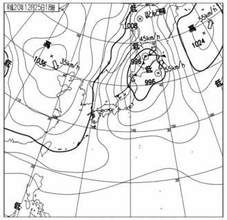 26日天気予想図