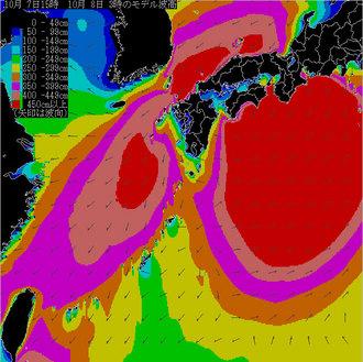 8日3時の予想波浪図