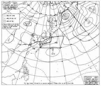 28日9時予想天気図