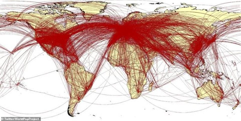 【新型肺炎】新型コロナウイルスが武漢からどのように広がったかを示す地図が作成される