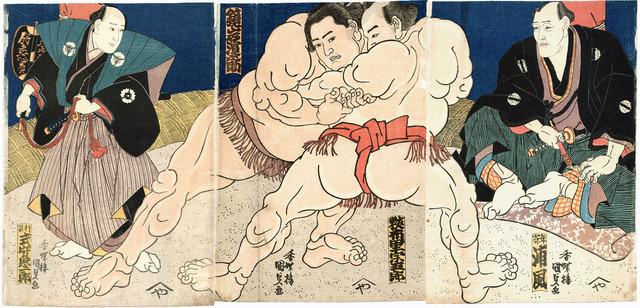 Kunisada_Sumo_Triptychon_c1860s