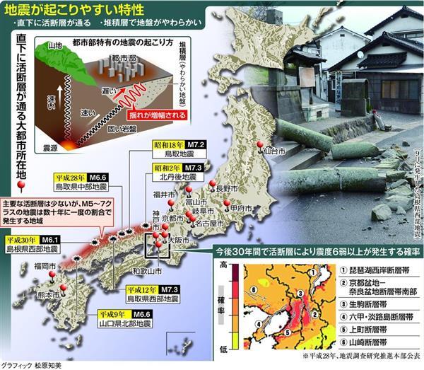 1ヶ月前の東北大教授「南海トラフ巨大地震の前に大阪北部で起きる地震に注目している」