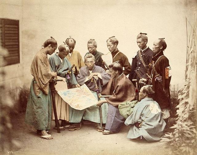 800px-Satsuma-samurai-during-boshin-war-period