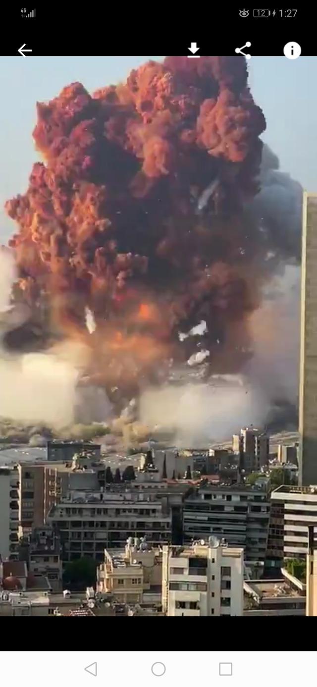 【速報】レバノン首都ベイルートで大爆発