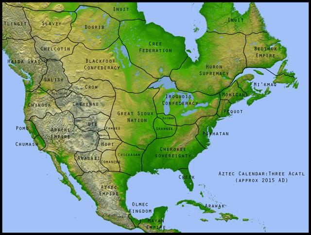 ヨーロッパ人に侵略されなかった場合の北アメリカ大陸www