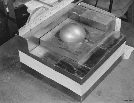 Partially-reflected-plutonium-sphere