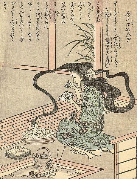 460px-Ehon_Hyaku_Monogatari_Futakuchi-onna