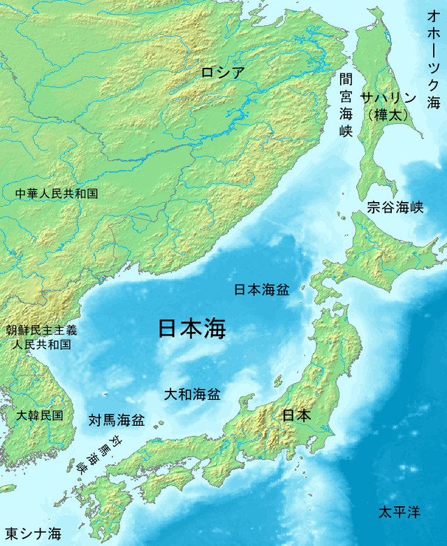 Sea-of-Japan-Map-Japanese-日本海の地図