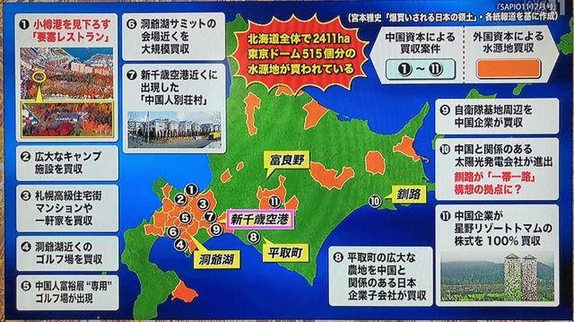 ちょっと昔にさ日本の水源地が中国に買われてるって話題になってたよな