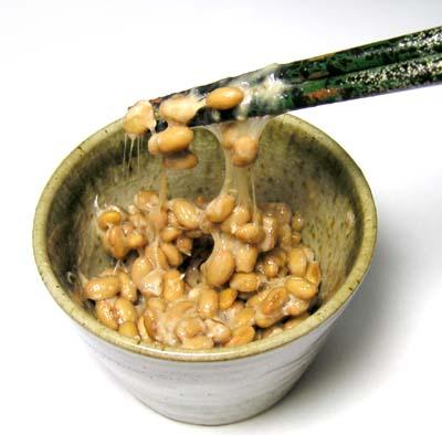 Natto_mixed