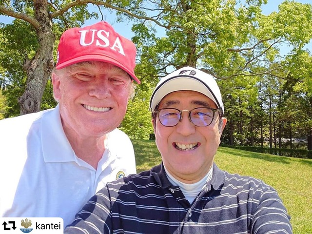 「トランプ大統領と千葉でゴルフです」 安倍総理がツイッターに投稿した写真が微笑ましすぎる件