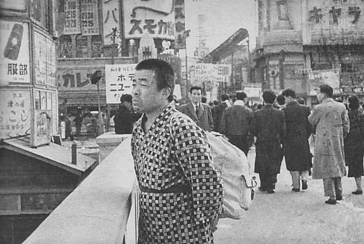 Kiyoshi_Yamashita_on_Ebisubashi_Bridge