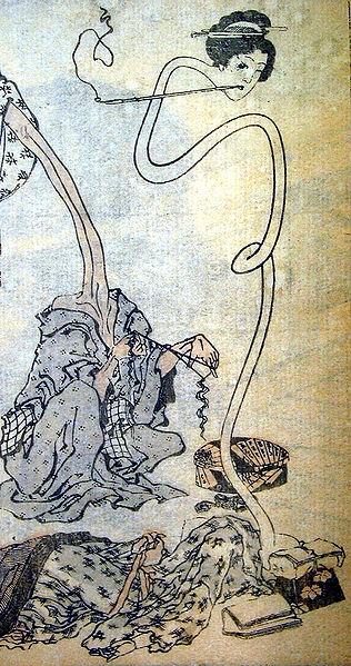 316px-Hokusai_rokurokubi
