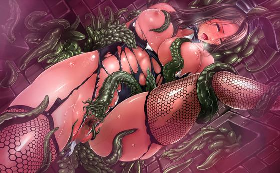 強気なバニー美女が触手による強烈な快楽責めで堕とされるようですwww