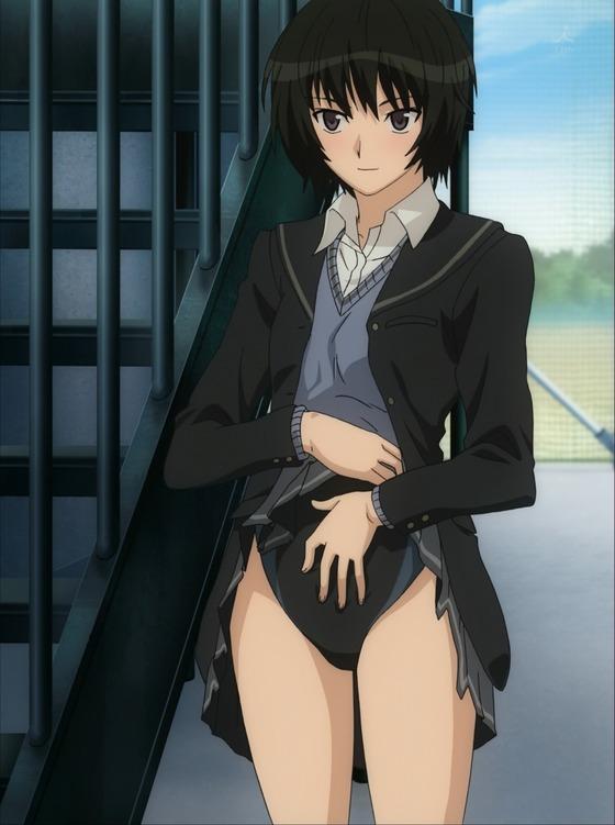 アマガミSS 七咲逢 スカートたくし上げ010
