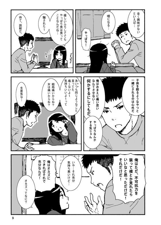 【エロ漫画】 幼女拾ったオッサン!! シュールな性格してる幼女を餌付けしてみた結果www
