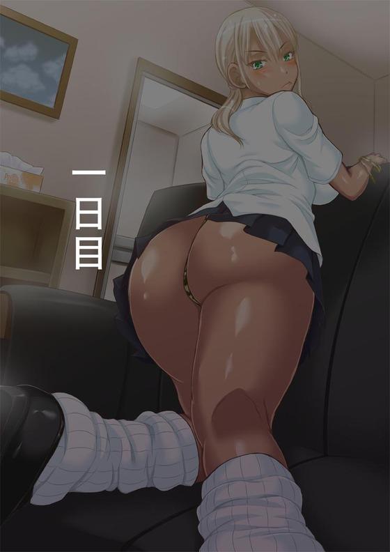 【エロ画像】 黒ギャル × キモデブ教師!! 単位のためにセックスしたらオヤジチ○ポ強すぎて快楽堕ちwww(サンプル30枚)