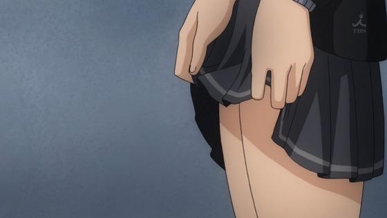 アマガミSS 七咲逢 スカートたくし上げ009