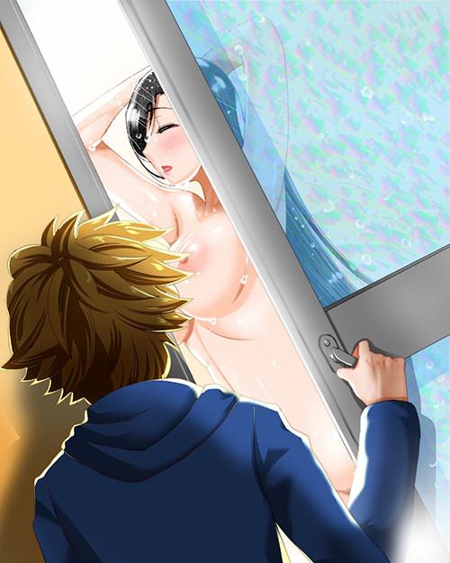 【FF7】ティファ「手どけて、洗えないでしょ」⇒「!?」風呂を覗きに来たショタのチ○ポが思いのほか大きかったようですwww