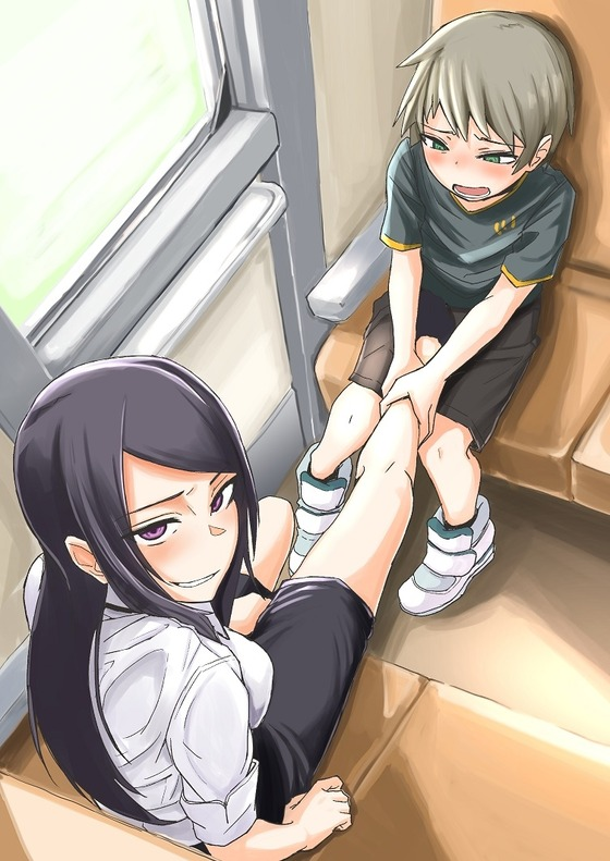 【おねショタwww】ショタ「電車に乗ってたらキレーなお姉さんが・・・」 エロOLにイタズラされるショタwww