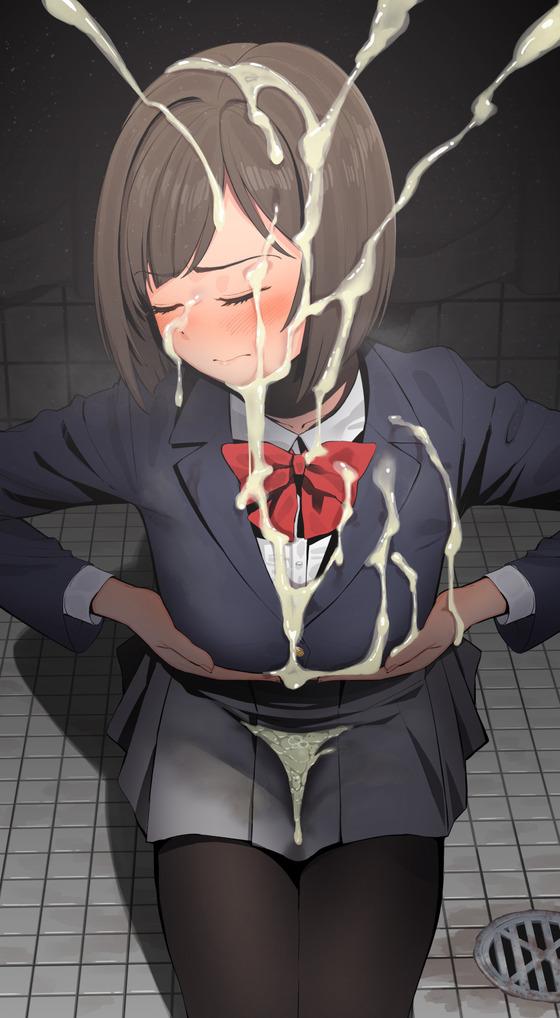 【エロ画像】くっさい精液ぶっかけられまくってる美少女達のエロ画像wwwpart71