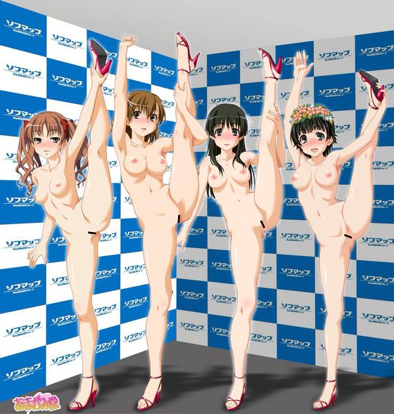 惜しげもなく裸体をさらしちゃってる美少女達の露出エロ画像www