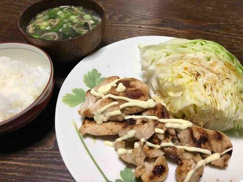 ドキドキの鶏ムネ、マヨネーズ漬け焼❗️