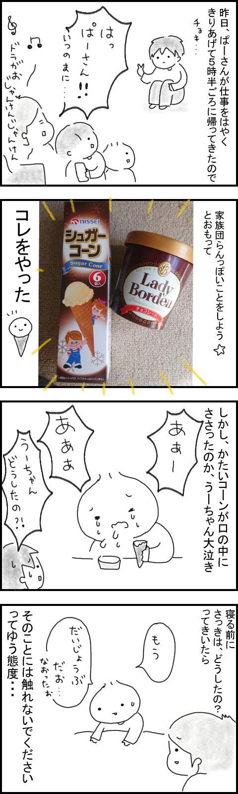 アイスのコーンでアイスを食べてみた