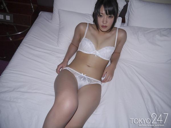 萌え系高校生9純白下着画像 (3)