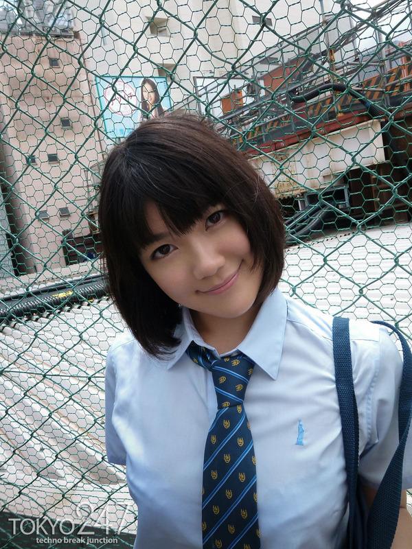 ショートカットモリマン少女9制服画像 (2)