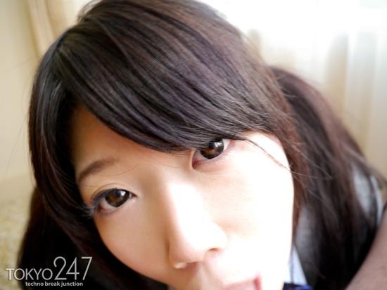 ツインテールロリ系少女8制服コスプレフェラチオ画像 (2)