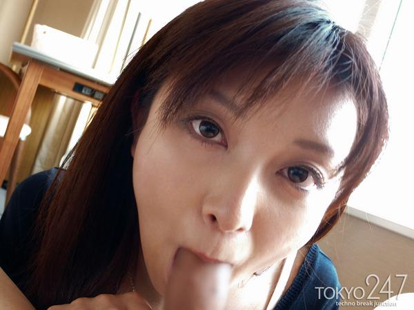 七緒果帆お嬢様風22才4フェラチオ口内発射画像 (6)