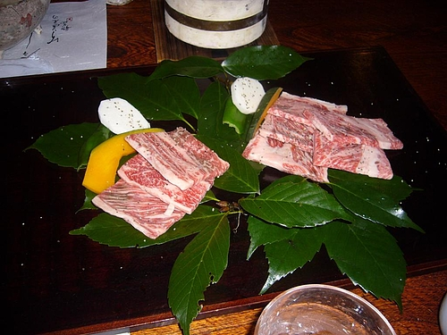 溶岩焼きのお肉