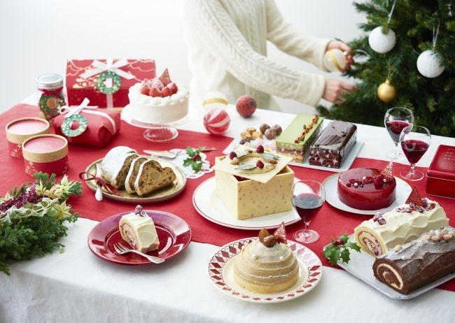 クリスマスケーキ集合イメージ