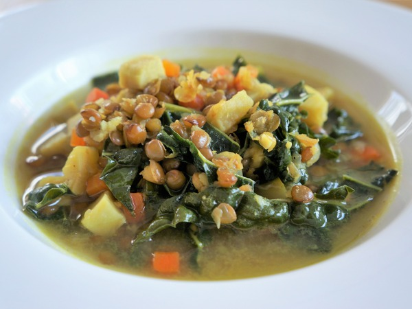 レンズ豆とサツマイモのスープ NYCooking DSC07037 (2)