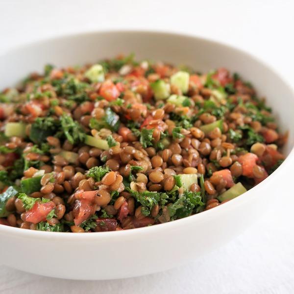 レンズ豆のサラダ NYCooking DSC07759 (5)