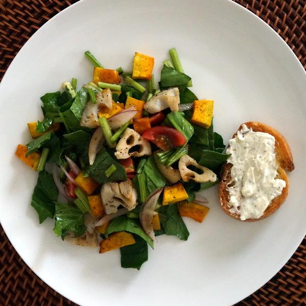 根菜のサラダ 手作りブルサンNYCooking DSC03617