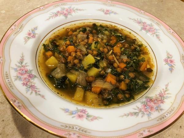 2020 03 レンズ豆とサツマイモのスープ NYCooking つくれぽ (2)