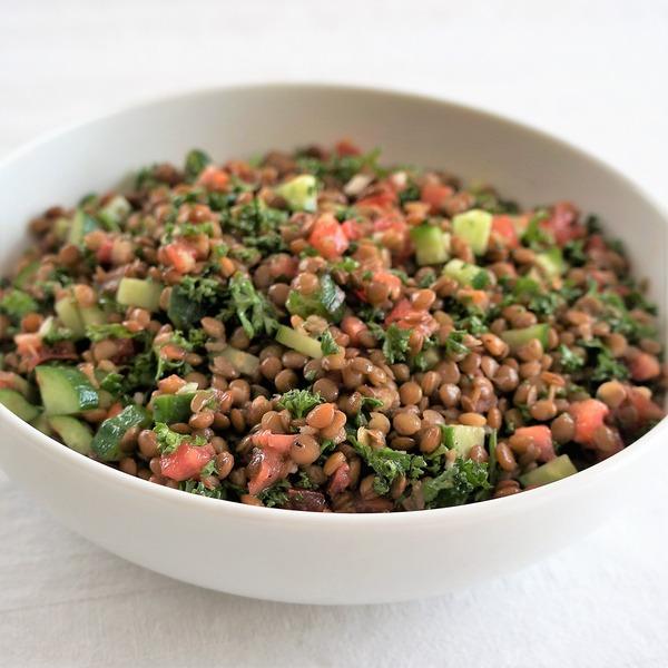 レンズ豆のサラダ NYCooking DSC07755 (2)