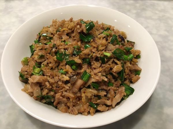 2019 09つくれぽ豚肉とにらのチャーハン