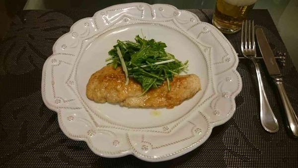 鶏のソテーとレモンガーリックソース(1)