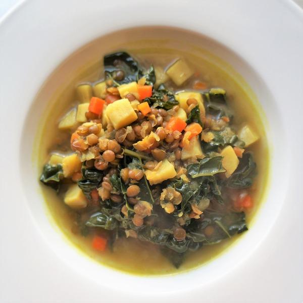レンズ豆とケールのスープ NYCooking DSC07012 (2)
