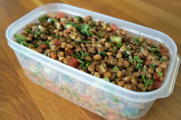 レンズ豆のサラダ NYCooking DSC07770 (2)