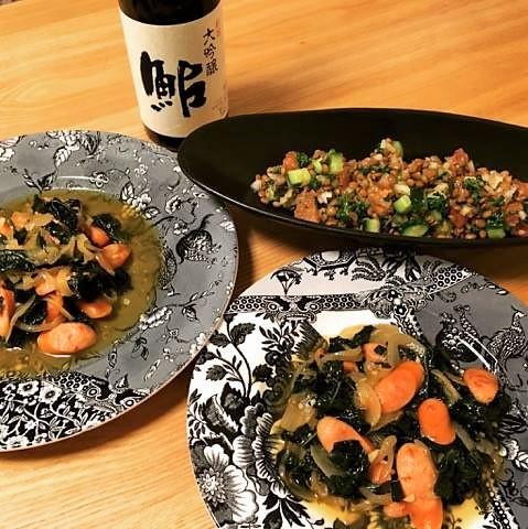ケールとレンズ豆 (2)